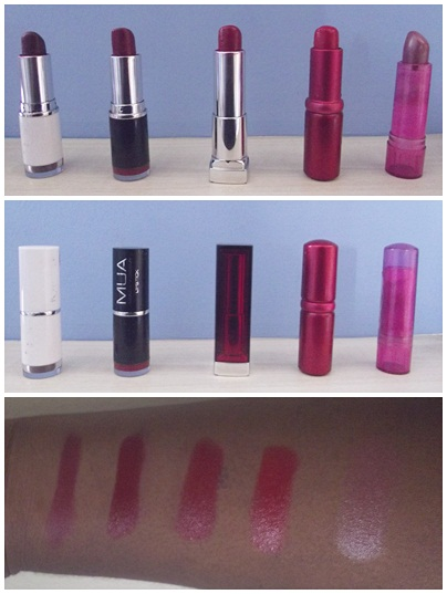 LIPSTICKS AND SWATCHES