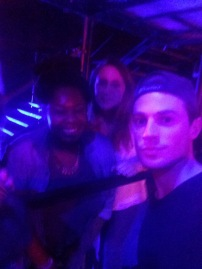 Couldn't have gotten a more blurrier unflattering pic if I tried but at least it's a picture haha! If you couldn't tell from the amaze HD quality, this is me and Yas with Adam (fab drummer of Lawson, not so fab photographer)